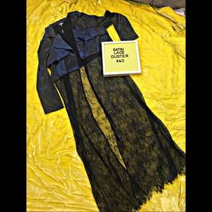 Satin Lace Duster